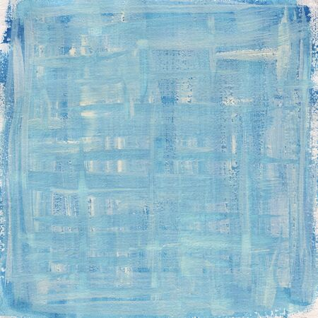 nonuniform: texture of rough blue and white watercolor abstract on artist cotton canvas, self made Stock Photo