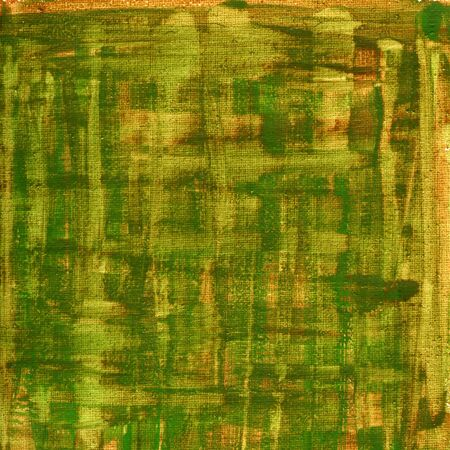 nonuniform: texture of rough green, brown, yellow  watercolor abstract on artist cotton canvas, self made