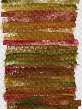 red, green and brown grunge watercolor abstract on white artist canvas with a coarse texture, self made by photographer Stock Photo - 6659786