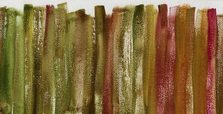 red, green and brown grunge watercolor abstract on white artist canvas with a coarse texture, vertical brush strokes, self made by photographer Stock Photo - 6790262
