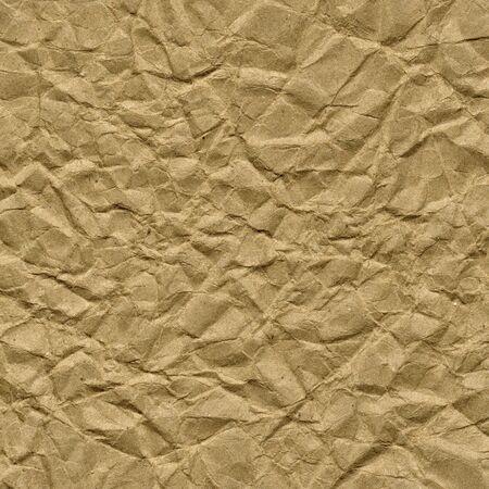 しわ、しわ、折り目茶色の包装紙の背景