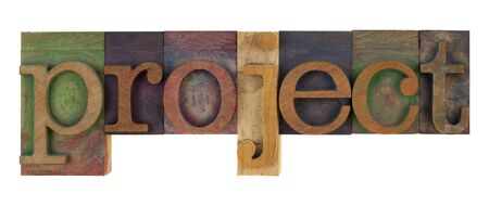 The Word Project In Vintage Letterpress Type Blocks Stained By ...