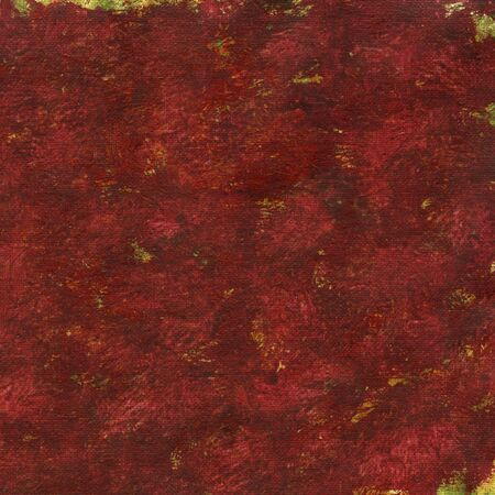 red patchy watercolor painted abstract on artist canvas, self made by photographer Stock Photo - 7051939