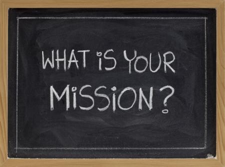 Wat is uw hand schrift missie vraag - witte krijt op een bord