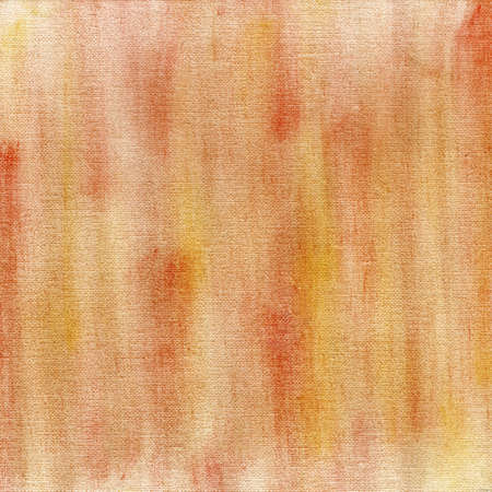 red and yellow crayon pastel smudges on white artist canvas, self made by photographer