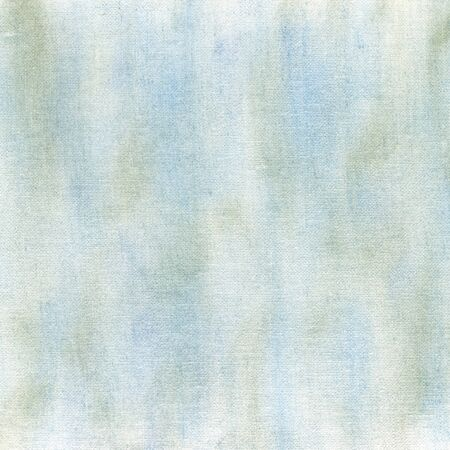 blue and green crayon pastel smudges on white artist canvas, self made by photographer Stock Photo