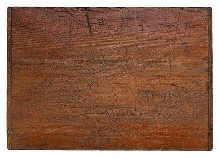 深い傷, 粒質と多くの文字、古い木製ボード分離ドンの白