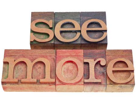 see more invitation phrase in vintage wood letterpress printing blocks isolated on white
