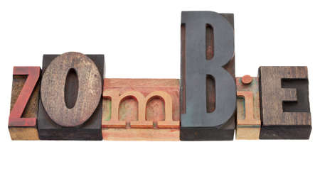 zombie - isolated word in vintage wood letterpress printing blocks Stock Photo - 9614106
