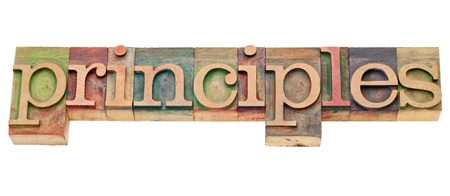 principles - isolated word in vintage wood  letterpress type Stock Photo - 10528963