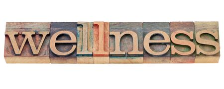 wellness - isolated word in vintage wood letterpress type Stock Photo - 10684342