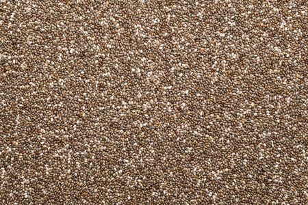 background of organic chia seeds rich in omega-3 fatty acids Stock Photo - 10982796
