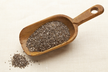 chia seeds scoop Stock Photo - 11062010