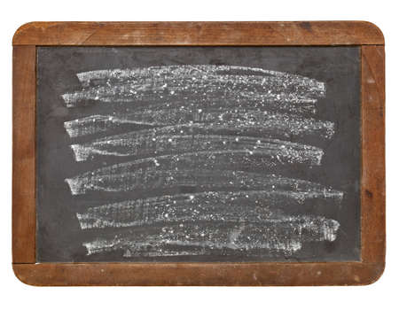 white chalk texture on an old grunge slate blackboard, isolated on white Stock Photo - 12674703
