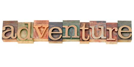 adventure - isolated word in vintage  letterpress wood type Stock Photo - 13046629