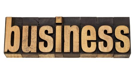 business - isolated word in vintage  letterpress wood type Stock Photo - 13331786