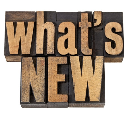 what is new - news concept - isolated phrase in vintage letterpress wood type