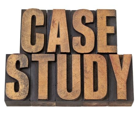 case: estudio de caso - El texto de la vendimia aislado en el tipo de madera de tipografía