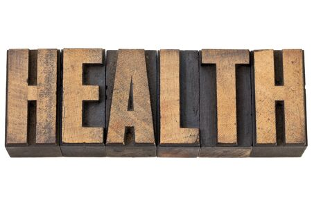 health - isolated text in vintage letterpress wood type Stock Photo - 13927247