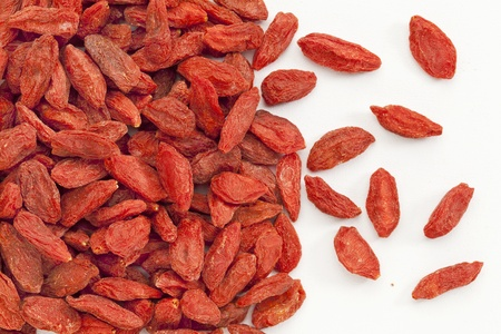 background of dried Tibetan goji berries (wolfberry) on an artist canvas Stock Photo - 14063451