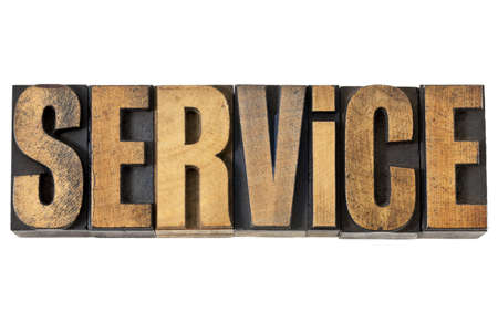 service word - isolated text in vintage letterpress wood type Stock Photo - 14294836