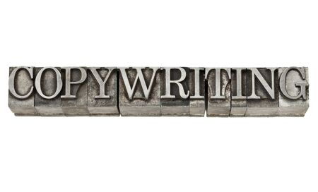 copywriting - isolated word in grunge vintage letterpress metall type Stock Photo - 15195920