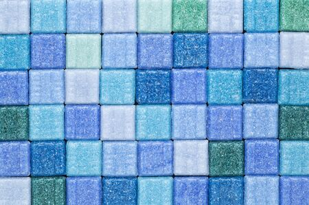 background of blue and green glass mosaic tiles Stock Photo - 14992321