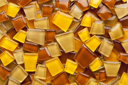 random background of yellow, brown and amber glass mosaic tiles Stock Photo - 15031379