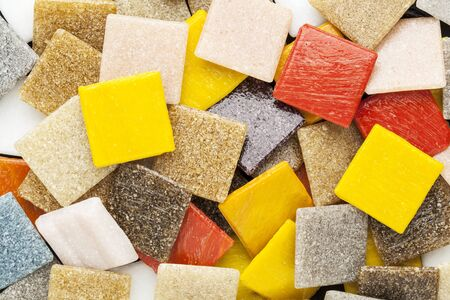 random background of colorful square glass mosaic tiles Stock Photo - 15499368
