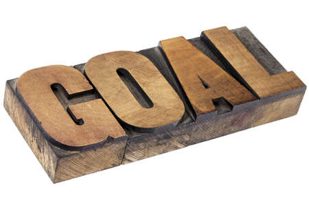 goal - isolated word in vintage letterpress wood type Stock Photo - 15654930