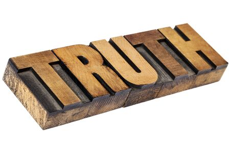 truth - isolated word in vintage  letterpress wood type Stock Photo - 15654928