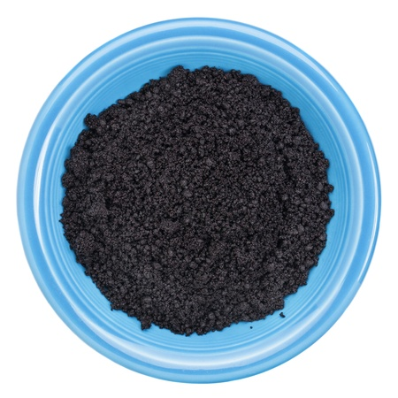 acai berry: bowl of organic freeze-dried acai berry powder - Amazon superfood - nutritional supplement