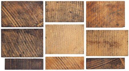 texture of old, stained, grunge wooden block isolated on white Stock Photo - 16126204