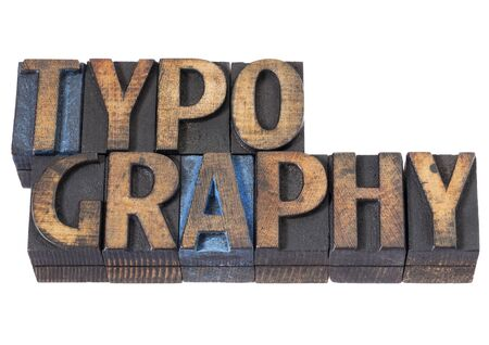 typography - isolated word in vintage letterpress wood type blocks stained by blue and black ink Stock Photo - 16295322