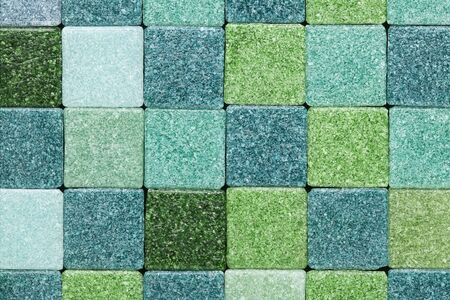 background of green frosty glass mosaic tiles Stock Photo - 16429848