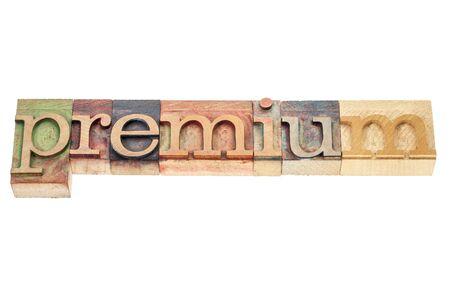premium - isolated word in vintage letterpress wood type printing blocks Stock Photo - 17007963