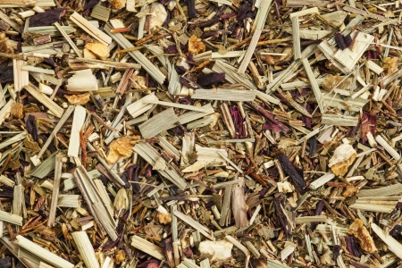 caffeine free: background texture of lemongrass organic tea, caffeine free