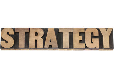 strategy  - isolated word in vintage letterpress wood type printing blocks Stock Photo - 18363774
