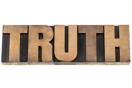 truth  - isolated word in vintage letterpress wood type printing blocks Stock Photo - 18363766