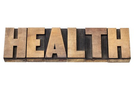 health word - isolated text in vintage letterpress wood type printing blocks Stock Photo - 18413596