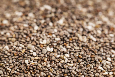 chia seeds close-up with a shallow depth of field Stock Photo - 18589424