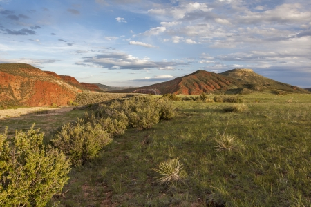 mountain ranch landscape in Colorado - Red Mountain Open Space Stock Photo - 20383165