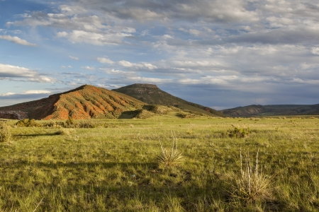 red mountain open space: mountain ranch landscape in Colorado - Red Mountain Open Space
