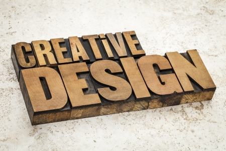 creative design  text in vintage letterpress wood type on a ceramic tile background Stock Photo - 21642124
