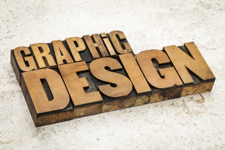 graphic design  text in vintage letterpress wood type on a ceramic tile background Stock Photo - 21642182