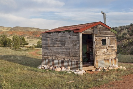 old cabin in Rocky Mountains - Red Mountain Open Space near Fort Collins, Colorado Stock Photo - 21631705