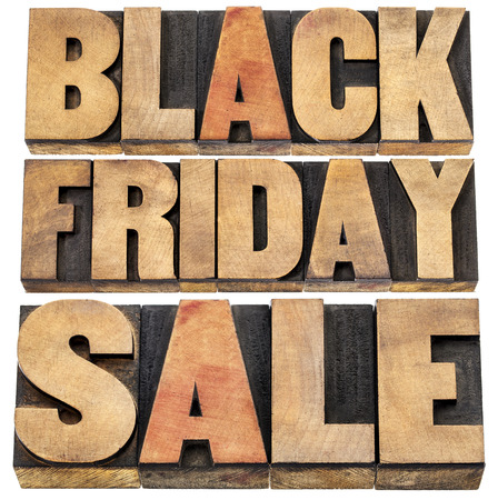 Black Friday sale - holiday shopping concept - isolated text in letterpress wood type. Stock Photo - 22443401