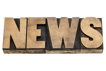 news word - isolated text in letterpress wood type Stock Photo - 22443405