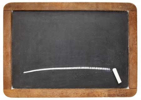 blank slate: blank slate blackboard with a single white chalk line Stock Photo