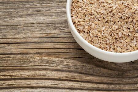 wheat bran - a ceramic bowl